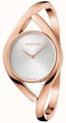 Calvin Klein Reloj de damas de oro rosa de acero inoxidable K8U2M616