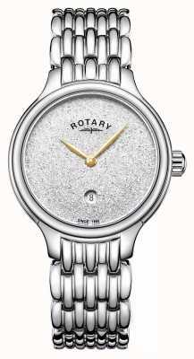 Rotary Dial brillo de mujer brillo acero inoxidable LB00405/33
