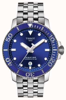 Tissot Seastar 1000 powermatic 80 esfera azul acero inoxidable T1204071104100