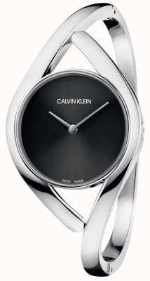 Calvin Klein Reloj de pulsera para mujer con esfera negra K8U2M111