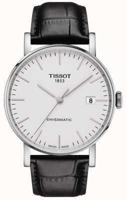 Tissot Mens everytime swissmatic automática correa de cuero negro T1094071603100