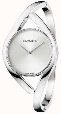 Calvin Klein Pulsera plateada de acero y plata K8U2M116