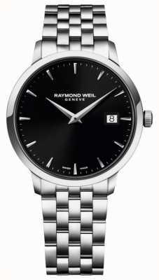 Raymond Weil Esfera negra de acero inoxidable toccata para hombre 5488-ST-20001