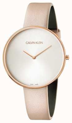 Calvin Klein Señoras luna llena de cuero rosa K8Y236Z6
