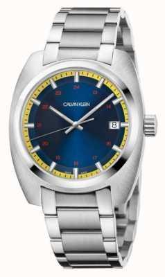 Calvin Klein Los hombres logran el dial azul de acero inoxidable K8W3114N