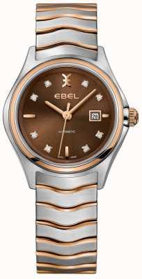 EBEL Dial de la avellana de la exhibición de la fecha del diamante de la onda automática de las mujeres 1216265