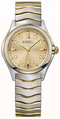 EBEL Champagne diamante para mujer en dos tonos de oro amarillo y plata 1216317