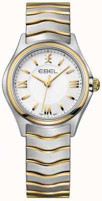 EBEL Pulsera para mujer con esfera blanca, dos tonos de oro y plata 1216375