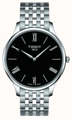 Tissot Mens tradition acero inoxidable pulsera esfera negra T0634091105800