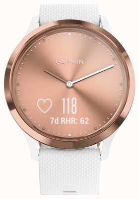 Garmin Rastreador de actividad Vivomove hr (pequeño / mediano) oro rosa blanco 010-01850-02