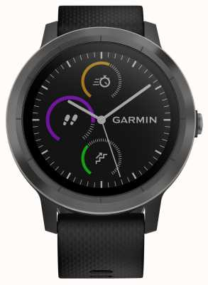 Garmin Vivoactive Rastreador multideportivo de 3 horas, caucho negro, bisel negro 010-01769-10