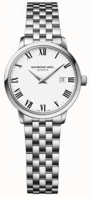 Raymond Weil Toccata para mujer de acero inoxidable, esfera blanca 5988-ST-00300