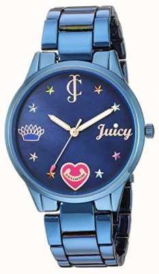 Juicy Couture Pulsera mujer acero azul | marcadores de colores | esfera azul JC-1017BMBL
