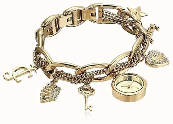 Juicy Couture Reloj de pulsera de mujer en tono dorado y acero inoxidable. JC-1040GPCH