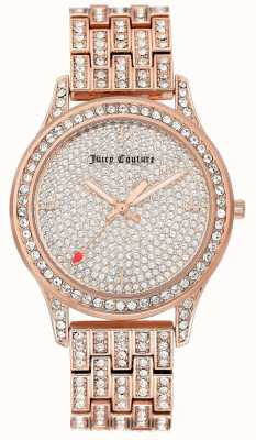 Juicy Couture Reloj de pulsera en dorado rosa para mujer. JC-1044PVRG