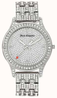 Juicy Couture Pulsera de acero inoxidable para mujer color plata. JC-1045PVSV