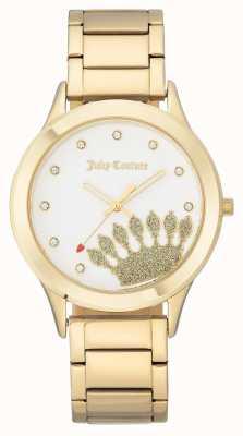 Juicy Couture Esfera y pulsera doradas para mujer. JC-1052WTGB