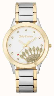 Juicy Couture Esfera dorada para mujer con esfera y pulsera de dos tonos. JC-1053WTTT
