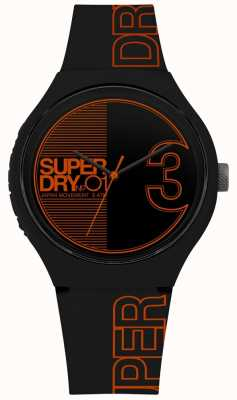 Superdry Urban xl fusion matt black orange print SYG239BO