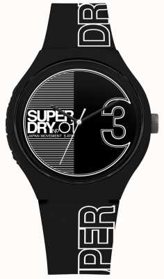 Superdry Urban xl fusion negro mate blanco estampado SYG239BW