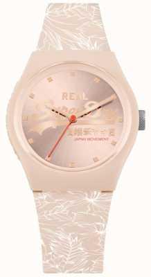 Superdry Banda de color rosa pálido sunray dial hoja rosa pálido SYL248C