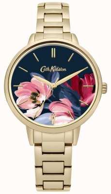 Cath Kidston Pulsera estampada con estampado floral dorado para mujer CKL050GM