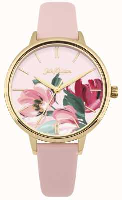 Cath Kidston Dial flojo del reloj de la correa rosada de las mujeres CKL050PG