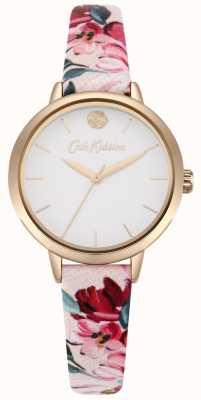 Cath Kidston Correa estampada floral rosa para mujeres con esfera blanca CKL064PRG