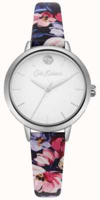 Cath Kidston Correa estampada floral azul marino para mujer con esfera blanca CKL064U