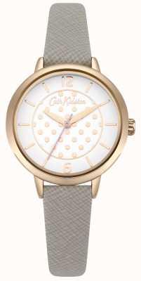 Cath Kidston Dial de estampado de lunares en color gris saffiano gris para mujer CKL065ERG