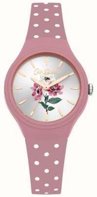 Cath Kidston Reloj de correa de silicona rosa ramo mujer anémona CKL066P