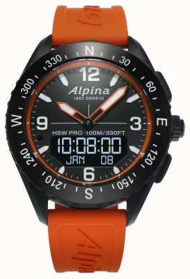 Alpina Correa de caucho naranja Alpinerx smartwatch AL-283LBO5AQ6