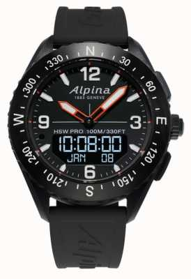 Alpina Correa de caucho Alpinerx Smart Watch negro. AL-283LBB5AQ6