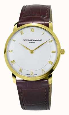 Frederique Constant Caja de cuarzo para hombre chapada en oro. FC-200RS5S35