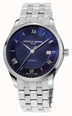 Frederique Constant Pulsera de acero inoxidable con dial azul para hombre FC-303MN5B6B