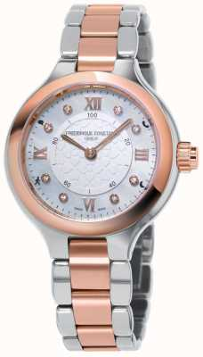 Frederique Constant Reloj inteligente horological para mujer, delicia en dos tonos de oro rosa FC-281WHD3ER2B