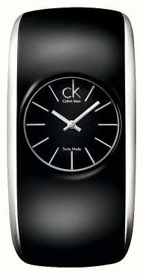 Calvin Klein Reloj pequeño negro brillante para mujer K6095101