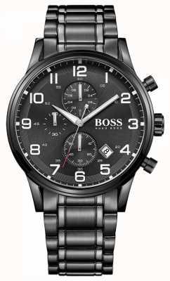 Hugo Boss Reloj cronógrafo negro para hombre aeroliner 1513180