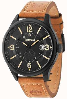 Timberland Hombres blake correa de cuero marrón caja negra y esfera TBL.14645JSB/02