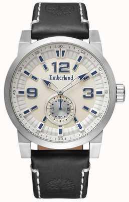 Timberland Correa de cuero negro duxbury para hombre marca dial TBL.15475JS/07