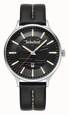 Timberland Esfera negra de cuero marmol negro para hombres dial 15488JS/02