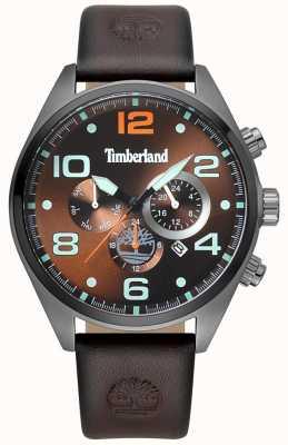 Timberland Correa de cuero marrón para hombre whitman marrón esfera TBL.15477JSU/12