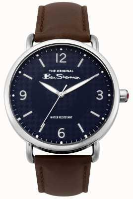 Ben Sherman Ben sherman mate azul marino correa marrón oscuro plata acero BS015BR