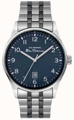 Ben Sherman Reloj mate para hombre | esfera azul | pulsera de acero inoxidable | BS017USM