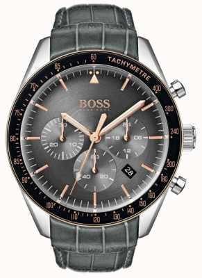 Hugo Boss Trofeo para hombre, esfera gris 1513628