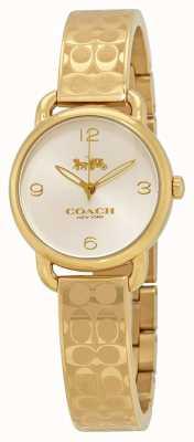 Coach Reloj delance de oro para mujer 14502892