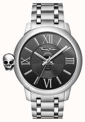 Thomas Sabo Hombres rebeldes con reloj de cráneo de acero inoxidable karma WA0304-201-203