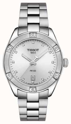 Tissot Ladies pr 100 sport chic diamond set display fecha T1019101103600