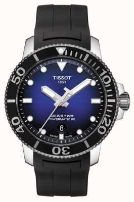 Tissot Caucho negro automático powermatic 80 para hombre Seastar 1000 T1204071704100
