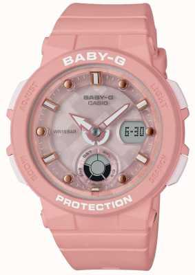 Casio Baby-g correa rosa viajero de la playa BGA-250-4AER